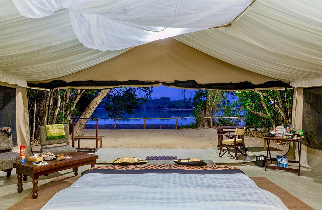 Rufiji Clients Tent View Facing Rufiji River